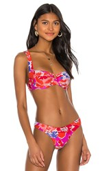 L Space Camellia Underwire Bikini Top In Fuchsia. Super Bloom