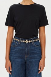 Topshop Snake Effect Skinny Belt Neutral