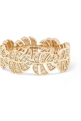 Sydney Evan Monstera 14 Karat Gold Diamond Ring 6