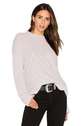 Inhabit Mix Stitch Sweater Light Gray