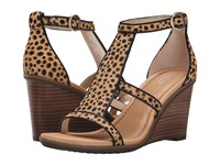 Dr. Scholl's Jacobs Original Collection Tan Black Pony Hair Women's Wedge Shoes Animal Print