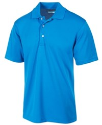 Pga Tour Men's Airflux Solid Golf Polo Shirt Classic Blue
