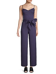 Saks Fifth Avenue Linen Jumpsuit Navy