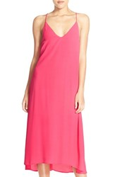 Women's Nsr High Low Midi Dress Coral