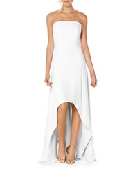 Laundry By Shelli Segal Strapless Hi Lo Gown White