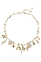 Noir Jewelry Woman Washed Ashore 14 Karat Gold Plated Necklace Gold