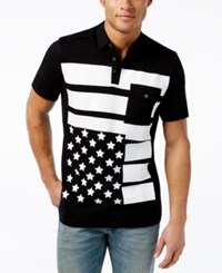 Inc International Concepts Men's Flag Polo Only At Macy's Deep Black