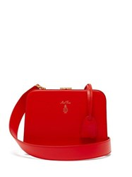 Mark Cross Juliana Leather Body Bag Red