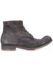 A Diciannoveventitre Lace Up Boots Men Horse Leather 43 Grey