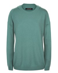 Jaeger Cashmere Slouchy Sweater Green