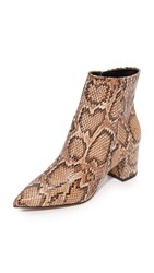 Steven Bollie Booties Natural Snake