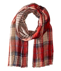 Bogner Fire Ice Linos Red Plaid Scarves