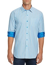 Robert Graham Benedetto Striped Classic Fit Button Down Shirt 100 Bloomingdale's Exclusive Cobalt Blue