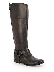 Frye Melissa Leather Tall Boots Dark Brown