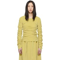 Christophe Lemaire Beige Gathered Blouse