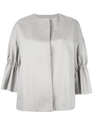 Alberto Biani Gathered Detail Jacket Grey
