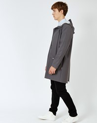 Rains Long Jacket Smoke Grey