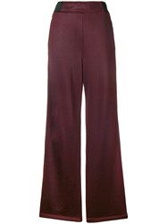 Alexander Wang T By Side Button Stripe Trousers Pink And Purple