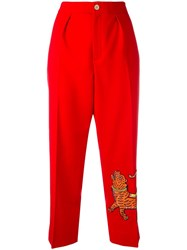 Gucci Embroidered Tiger Trousers