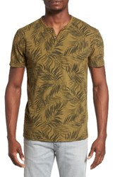 Lucky Brand Men's Palm Print Notch T Shirt