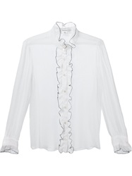 Rodarte Ruffled Placket Blouse White