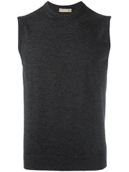 Cruciani Sleeveless Jumper Grey