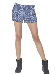 Etoile Isabel Marant Destroyed Embroidered Denim Shorts
