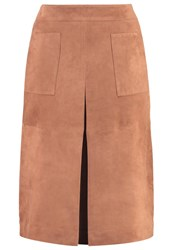 More And More Leather Skirt Superior Cognac