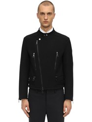 Neil Barrett Wool Blend Jersey Jacket Black