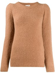 Semicouture Round Neck Jumper Brown