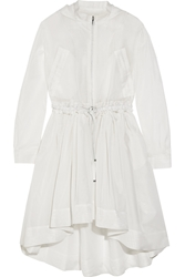 Antonio Berardi Hooded Ruffled Silk Organza Coat