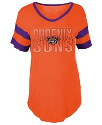 5Th And Ocean Women's Phoenix Suns Hang Time Glitter T Shirt Orange