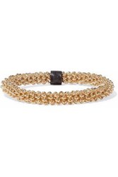 Marni Woman Gold Tone Leather Bracelet Gold