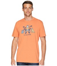 Life Is Good Living Large Camp Crusher Tee Sandy Orange T Shirt