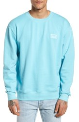 Obey These Eyes Sweatshirt Cool Blue