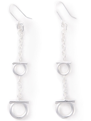 Salvatore Ferragamo Gancio Drop Earrings Metallic