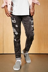 Forever 21 Project X Paris Distressed Jeans Dark Grey
