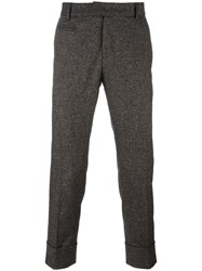 Paolo Pecora Tailored Cropped Trousers Brown
