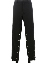 Y Project Embellished Wide Leg Trousers Men Cotton Wool 48 Black