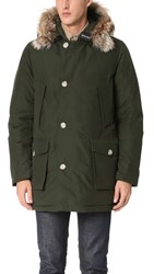 Woolrich Arctic Parka With Fur Collar Rosin Green