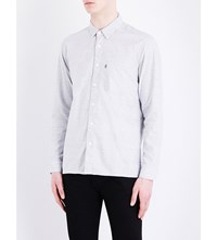 Levi's Line 8 Regular Fit Cotton Shirt Variegated Blue Grey Htr