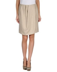 Carven Knee Length Skirts Beige