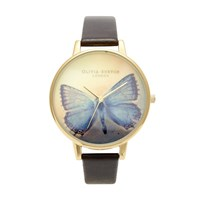 Olivia Burton Women's Woodland Butterfly Chocolate