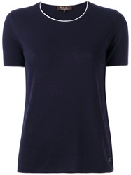 Loro Piana Short Sleeve Sweater Blue