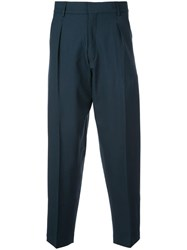 Second Layer Loose Fit Tailored Trousers Blue