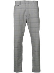 Closed Checked Chinos Grey