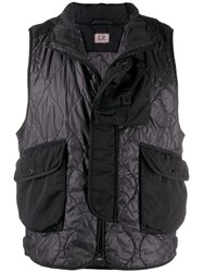 C.P. Company Cp Quilted Shell Gilet Black