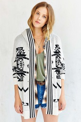 Ecote Arianna Patterned Cardigan Black And White