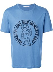Stella Mccartney Members Only Cat Print T Shirt Blue