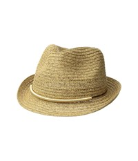 San Diego Hat Company Ubf1106 Fedora W Metallic Bar Trim Natural Fedora Hats Beige